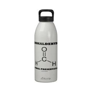 Formaldehyde Natural Preservative (Molecule) Reusable Water Bottle