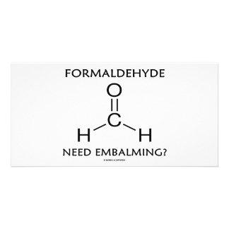 Formaldehyde Need Embalming? (Chemistry Humor) Photo Greeting Card