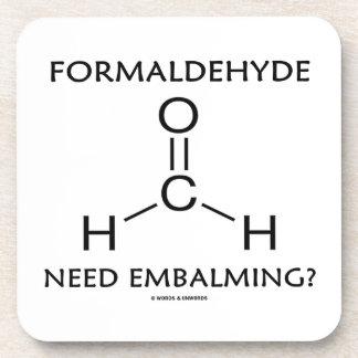Formaldehyde Need Embalming? (Chemistry Molecule) Drink Coaster