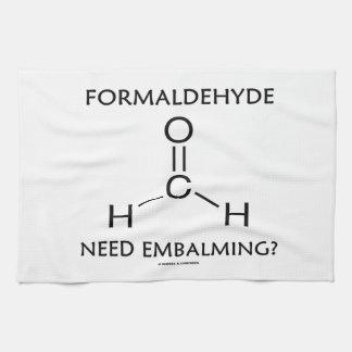 Formaldehyde Need Embalming? (Chemistry Molecule) Kitchen Towels