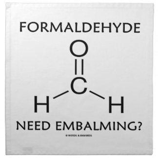 Formaldehyde Need Embalming? (Chemistry Molecule) Cloth Napkins