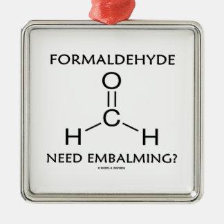 Formaldehyde Need Embalming? (Chemistry Molecule) Christmas Tree Ornament