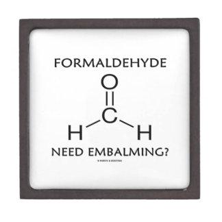 Formaldehyde Need Embalming? (Chemistry Molecule) Premium Jewelry Box