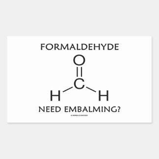 Formaldehyde Need Embalming? (Chemistry Molecule) Rectangular Sticker
