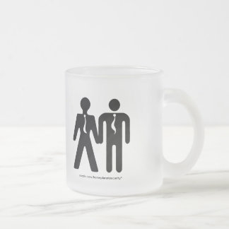 formally boyfriends frosted glass coffee mug