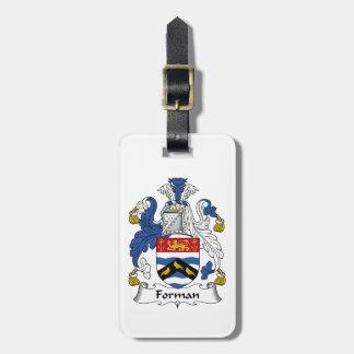 Forman Family Crest Bag Tag