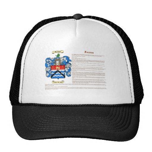 Forman (meaning) trucker hat
