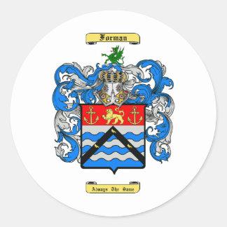 Forman Round Sticker
