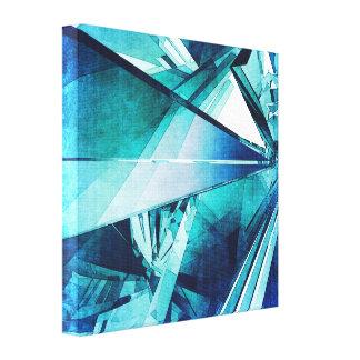 Formas abstractas al azar impresiones en lona