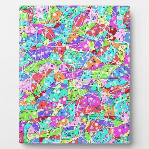 Formas abstractas coloridas placas para mostrar
