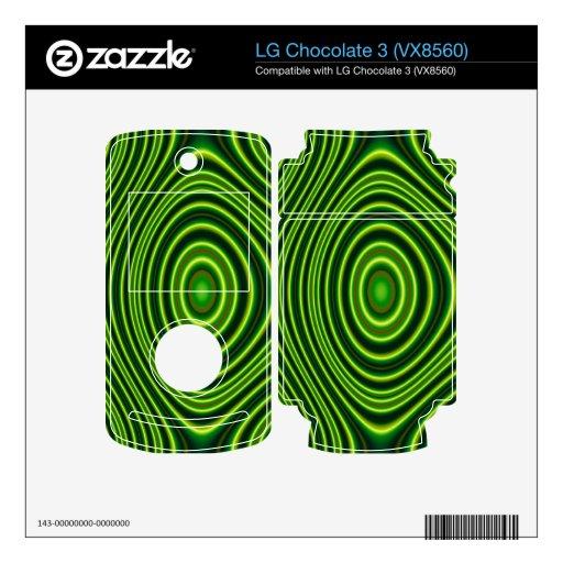 Formas abstractas coloridas LG chocolate 3 calcomanía