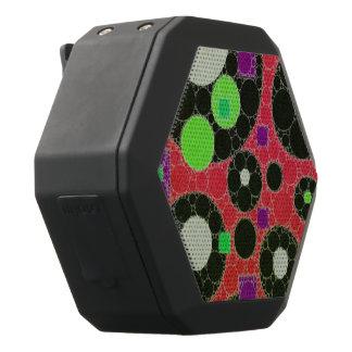 Formas abstractas fluorescentes de la textura altavoces bluetooth negros boombot REX