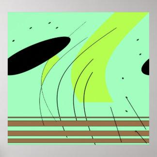 Formas abstractas poster