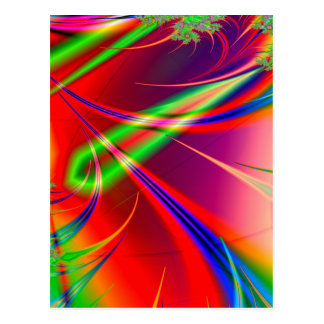 Formas abstractas psicodélicas: postal