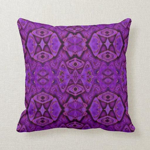 formas abstractas púrpuras almohadas