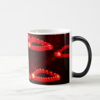 Formas abstractas rojas claras taza mágica