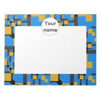 Formas amarillas azules bloc de notas