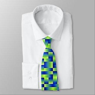 Formas azulverdes corbata fina