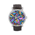 Formas caprichosas intrépidas coloridas enrrollada relojes de mano