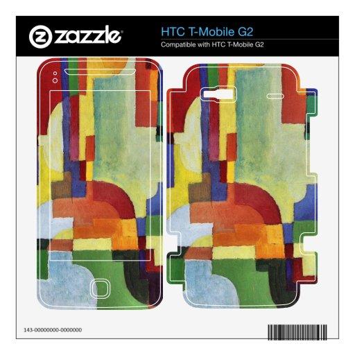 Formas coloreadas (i) en agosto Macke HTC T-Mobile G2 Skin