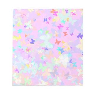 Formas coloridas de la mariposa blocs de notas