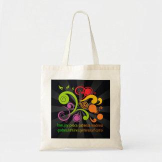 Formas coloridas fruta del alcohol bolsa de mano