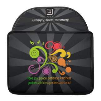 Formas coloridas, fruta del alcohol fundas para macbooks