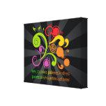 Formas coloridas, fruta del alcohol lona estirada galerias
