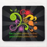 Formas coloridas, fruta del alcohol tapetes de ratones
