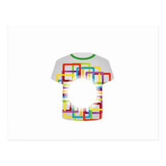 Formas coloridas gráficas de la camiseta tarjeta postal