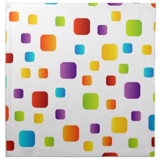 Formas coloridas servilletas