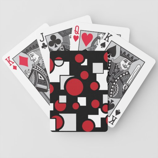 Formas de encargo en rojo y blanco baraja de cartas