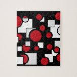 Formas de encargo en rojo y blanco puzzle con fotos