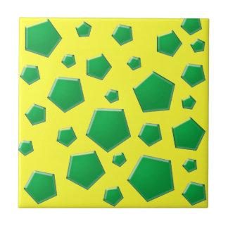 Formas de la diversión azulejo cuadrado pequeño