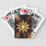 Formas de la estrella del oro con un fondo sucio barajas de cartas