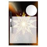Formas de la estrella del oro con un fondo sucio tableros blancos