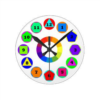 formas de la geometría reloj de pared
