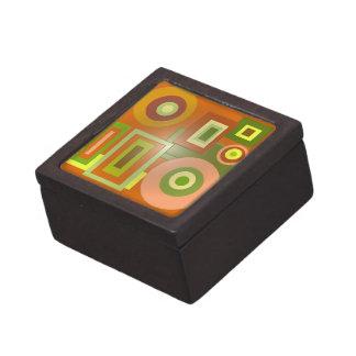 formas de la MOD del verde amarillo Caja De Regalo De Calidad