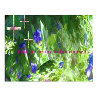 Formas de la paz en el jardín de Mamaw por JudyMar Tarjeta Postal