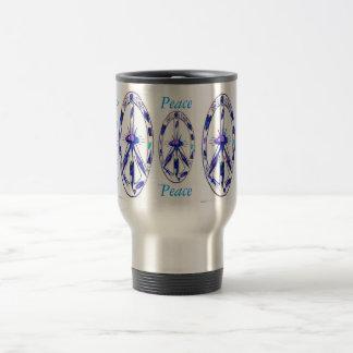 Formas de la paz tazas de café