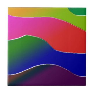 Formas de la pendiente de la diversión azulejo cuadrado pequeño