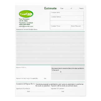 Formas de oferta de la estimación/de la cita/del t plantillas de membrete