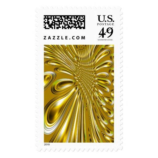Formas de oro abstractas 3d sellos