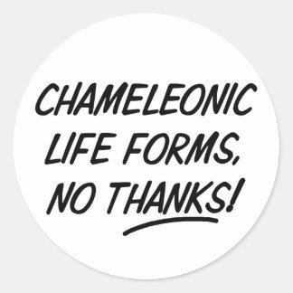 Formas de vida Chameleonic Pegatina Redonda