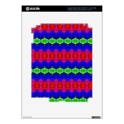 Formas decorativas del modelo pegatinas skins para iPad 3