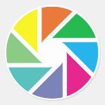Formas del color pegatinas redondas