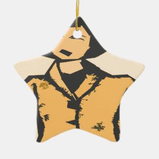 Formas del dibujo animado adorno de cerámica en forma de estrella