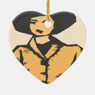 Formas del dibujo animado adorno de cerámica en forma de corazón