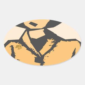 Formas del dibujo animado pegatina ovalada
