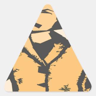 Formas del dibujo animado pegatina triangular
